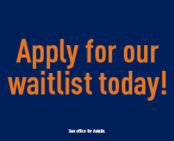 Apply for our waitlist today!