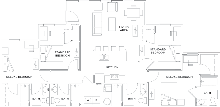 Floor Plans The Province Greensboro Student Apartments In Greensboro Nc