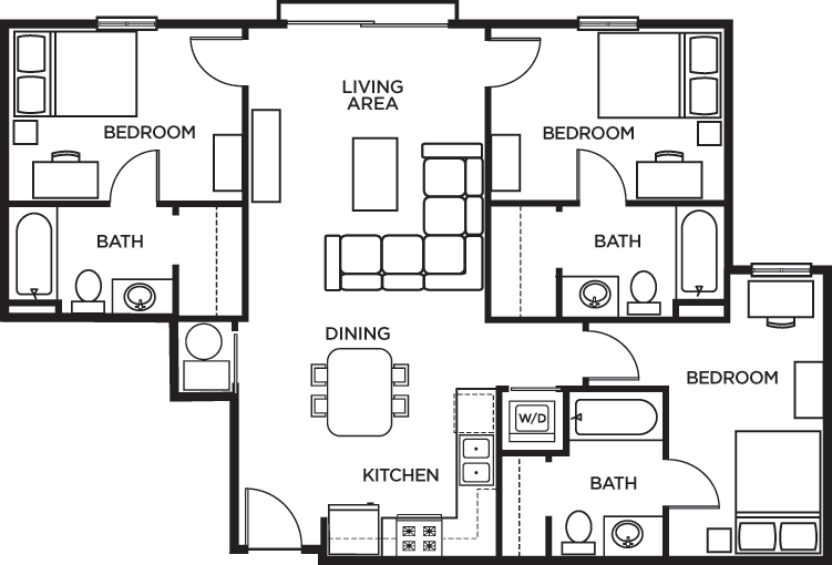 Floor Plans U Pointe Kennesaw Student Apartments In