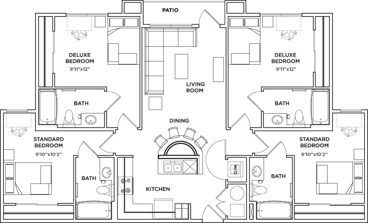 Floor Plans University Walk Knoxville Student Apartments