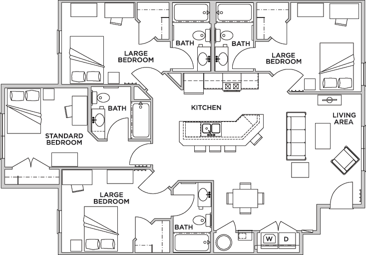 Floor Plans University Edge Student Apartments In Kent Oh