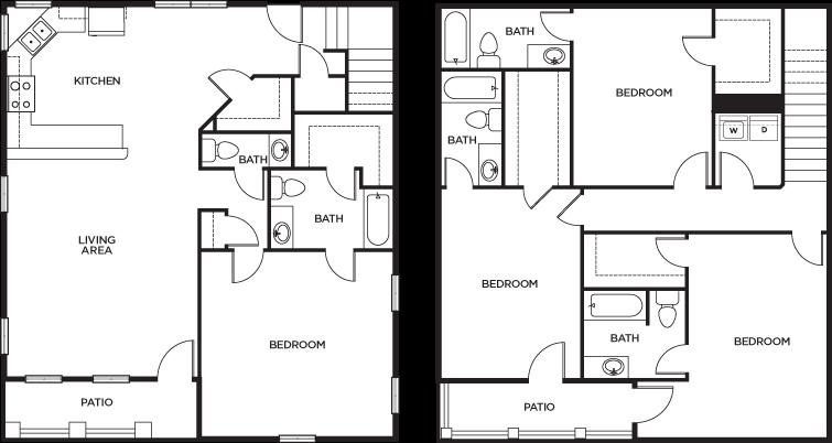 Floor Plans U Club Cottages Student Apartments In Baton
