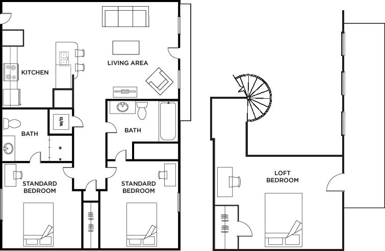 Floor Plans Vistas San Marcos Student Apartments In San Marcos Tx
