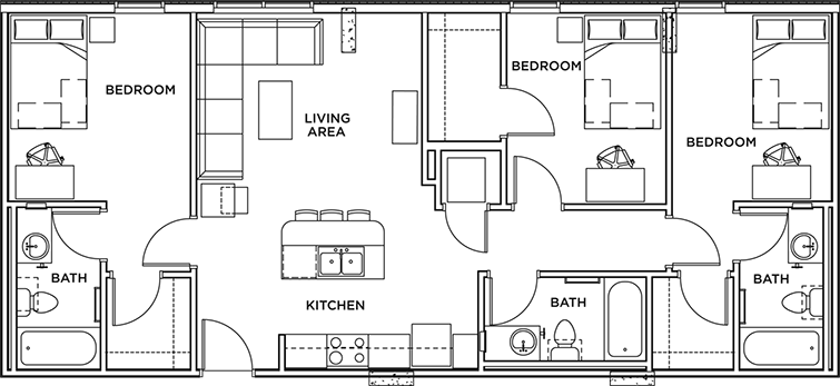 Floor Plans - The Callaway House Austin Student Apartments ...
