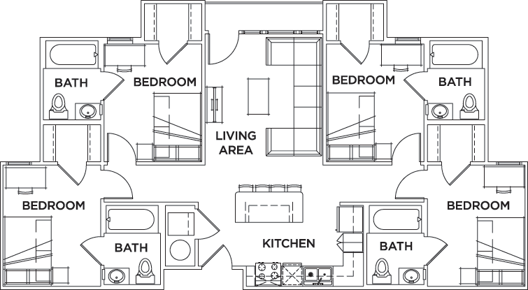 Floor Plans Campus Edge On Uta Boulevard Student Apartments In Arlington Tx