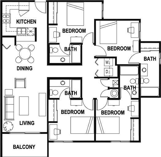 Floor Plans Aggie Station Student Apartments In Bryan Tx Near Texas A M University